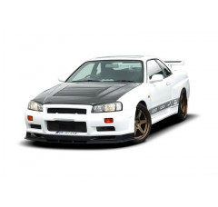 Бампер передний Nissan Skyline R34 GTR (без диффузоров, GTR look)