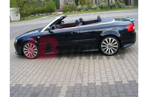 Накладки на пороги Audi A4 B6 Кабриолет