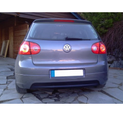 Накладка на задний бампер Volkswagen Golf V GTI EDITION 30 (стандартный скрытый выхлоп)