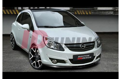 Сплиттер передний Opel Corsa D Дорестайл