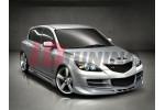 Накладки на пороги Mazda 3 INFERNO