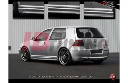 Накладки на пороги Volkswagen Golf IV вар.2