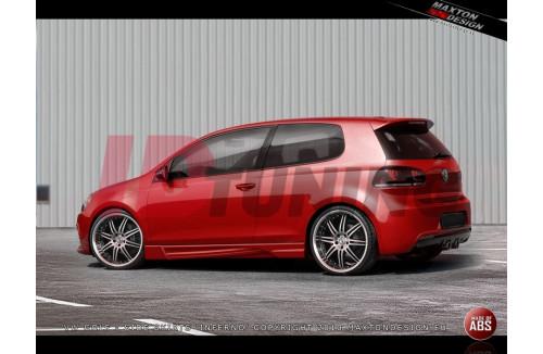 Накладки на пороги Volkswagen Golf VI INFERNO