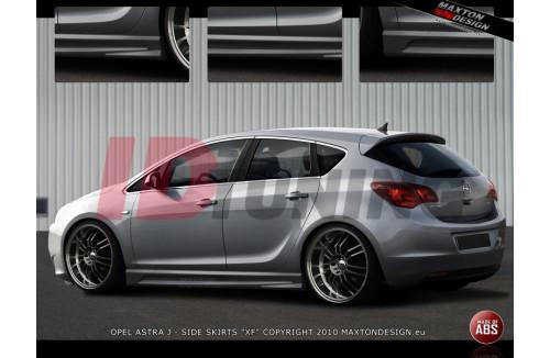 Накладки на пороги Opel Astra J