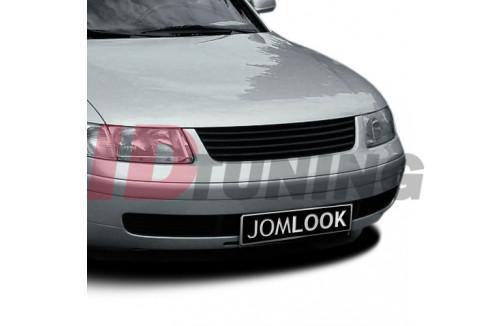Радиаторная решётка без эмблемы черная Volkswagen Passat Б5
